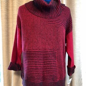 Style & Co | Cowl Neck Red Sweater